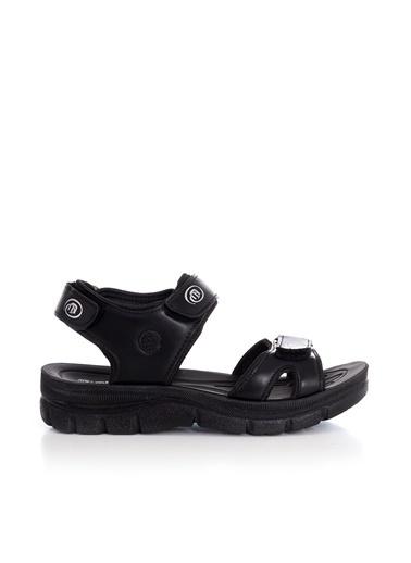 Tonny Black Siyah Cilt Unısex Sandalet Terlik 98058  Siyah
